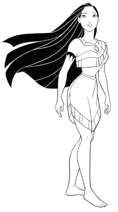 coloring pages pocahontas - photo#3