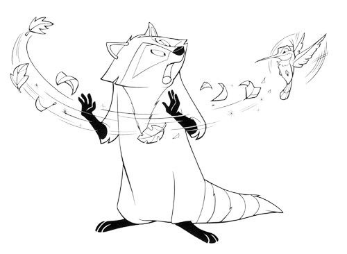 pocahontas meeko coloring pages - photo#22